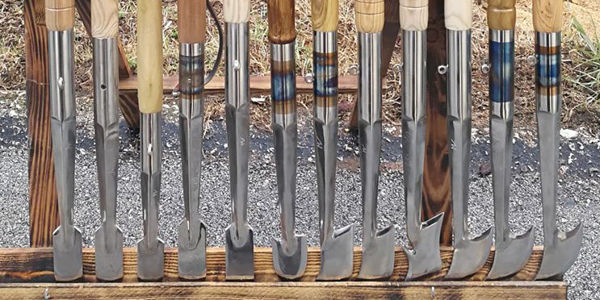 modelli e  misure di vanghetti per tartufi in acciaio inox